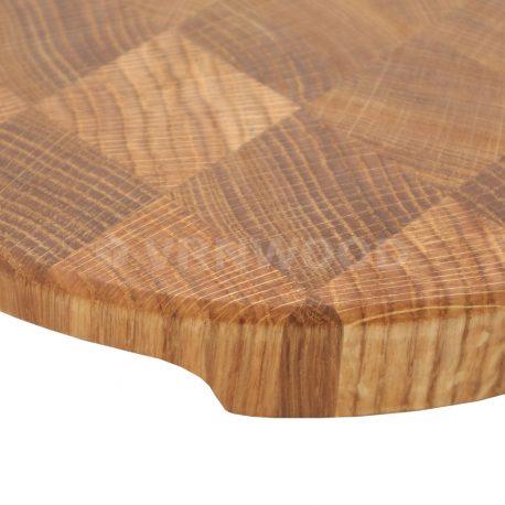 Торцевая разделочная доска из дуба круглая 25x25x3 фото 3