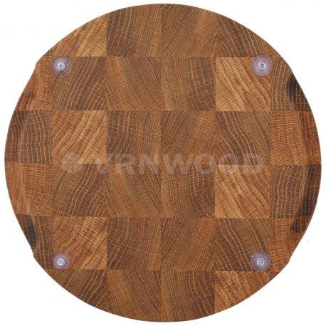 Торцевая разделочная доска из дуба круглая 25x25x3 фото 4