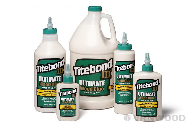Клей Titebond III Ultimate, используемый в производстве торцевых разделочных досок