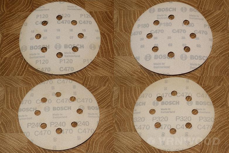 Шлифовальные круги с зерном 120, 180, 240, 320