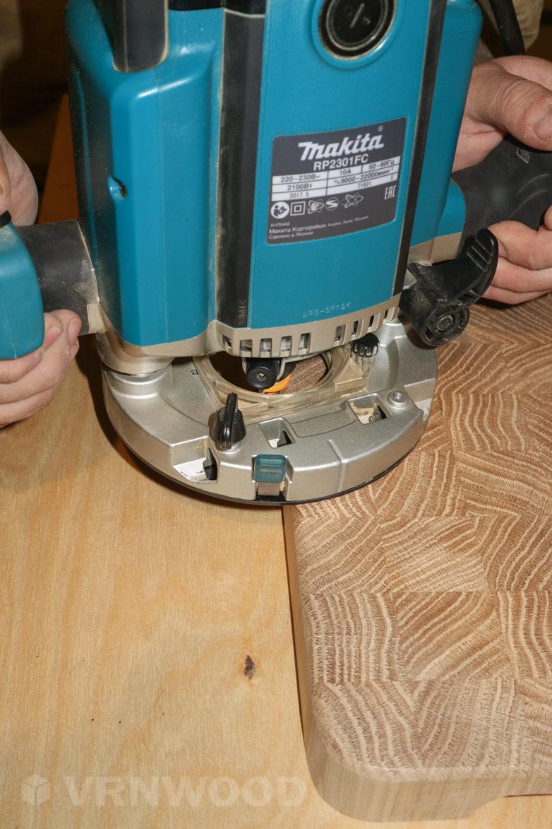 Снятие фасок с помощью ручного фрезера