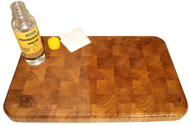 Распределение масла по поверхности доски
