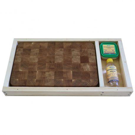 Разделочная доска из дуба 25x40x4, воск, масло, упаковка фото 2