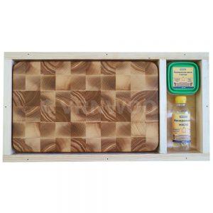 Разделочная доска из ясеня 25x40x4, воск, масло, упаковка фото 1
