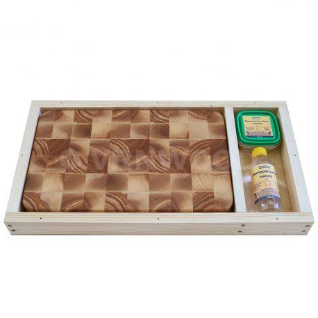 Разделочная доска из ясеня 25x40x4, воск, масло, упаковка фото 2