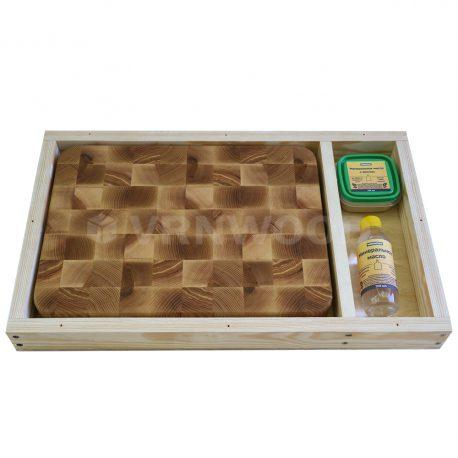 Разделочная доска из ясеня 30x40x4, воск, масло, упаковка фото 2