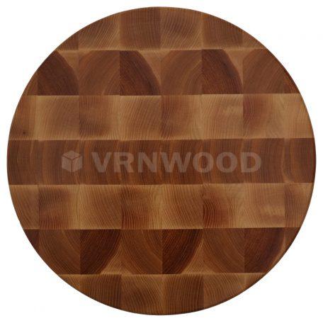Торцевая разделочная доска из ясеня круглая 30x4 см фото 1